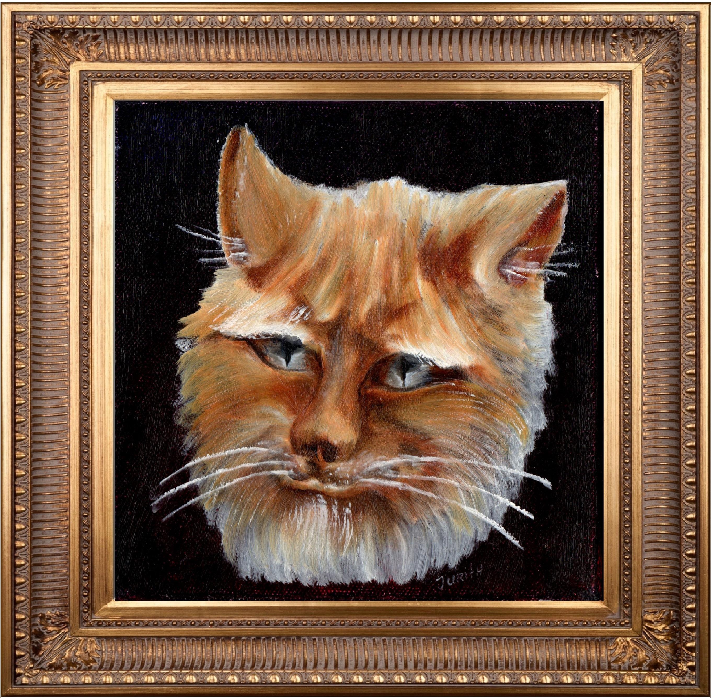 1 cat face #1-jurita-2018-oil on canvas ®