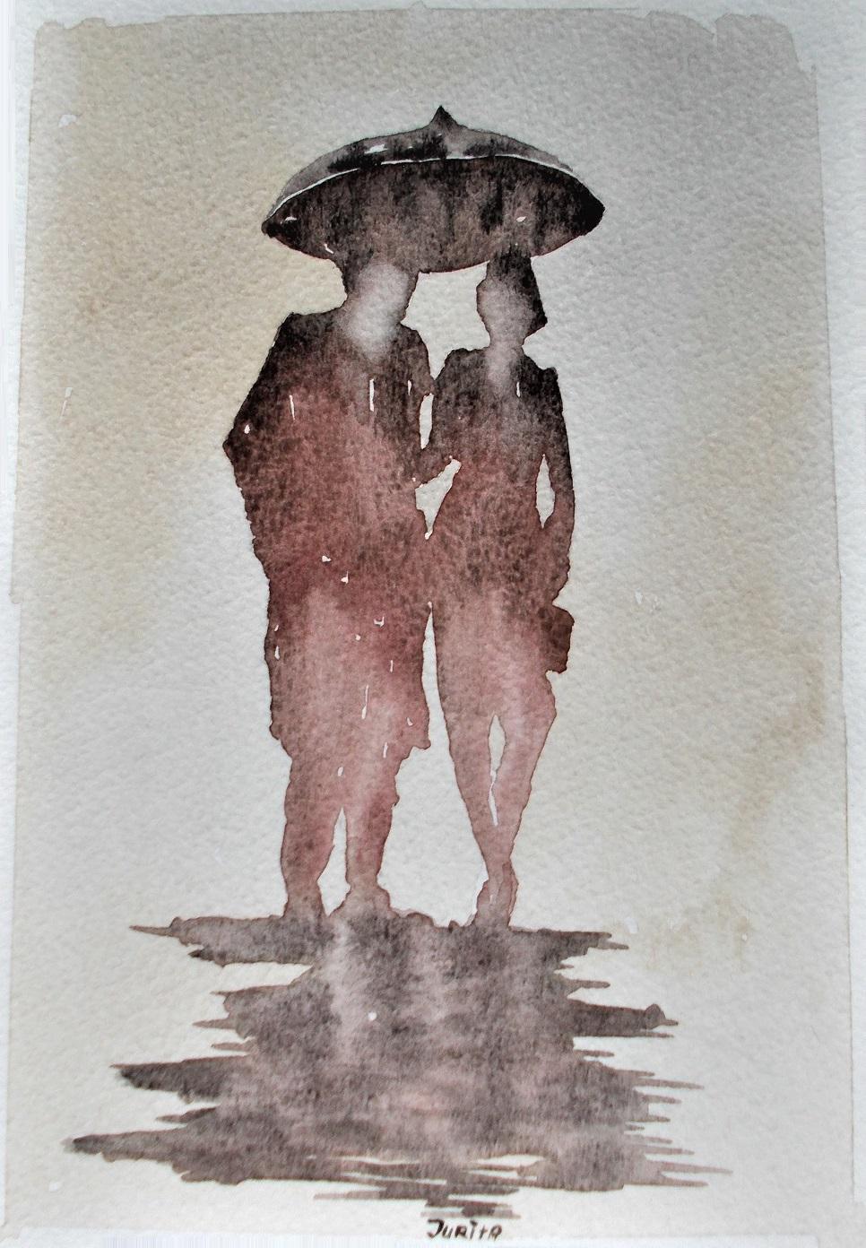 Love Rain, Jurita Kalite, 2017, watercolor