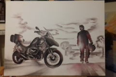 Harshavardhan Rane Motorbike-jurita-2019-oil on canvas - 60 x 80cm (13)