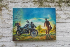 Harshavardhan Rane Motorbike-jurita-2019-oil on canvas - 60 x 80cm (3)