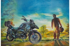 Harshavardhan Rane Motorbike-jurita-2019-oil on canvas - 60 x 80cm (4)