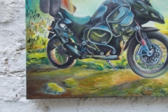 Harshavardhan Rane Motorbike-jurita-2019-oil on canvas - 60 x 80cm (6)