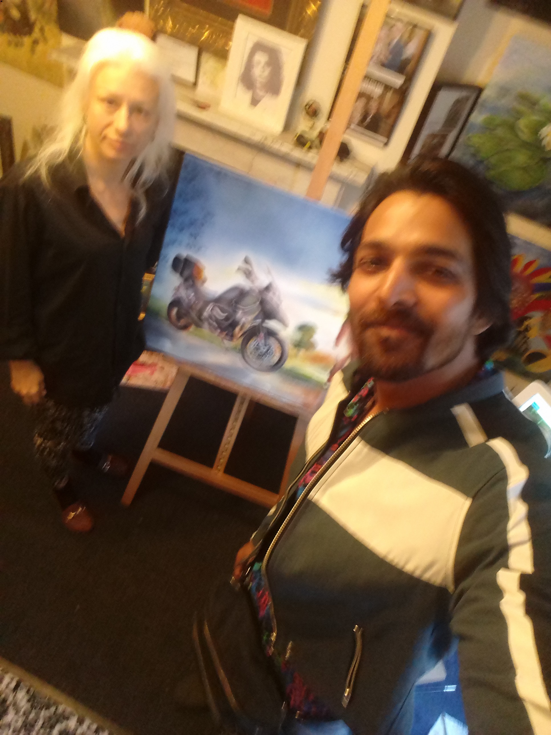 Harshavardhan Rane Motorbike-jurita-2019-oil on canvas - 60 x 80cm (11)