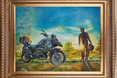 Harshavardhan Rane Motorbike-jurita-2019-oil on canvas - 60 x 80cm (2)-1