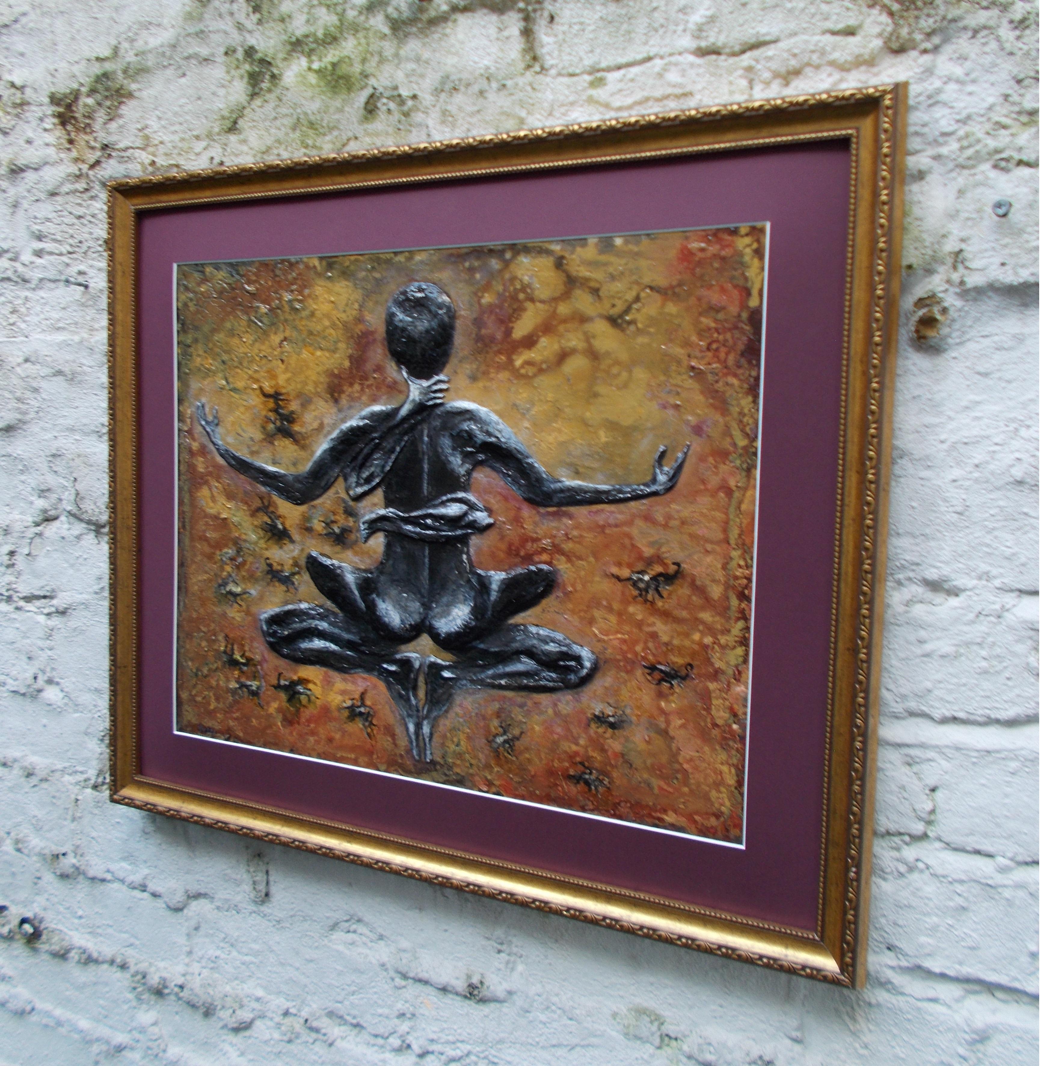 Scorpio-The-Scorpion-Oct 23-Nov 21-Jurita-2019-Painting Relief 3D-mixed-media-acrylic-clay-40x50cm© (10)