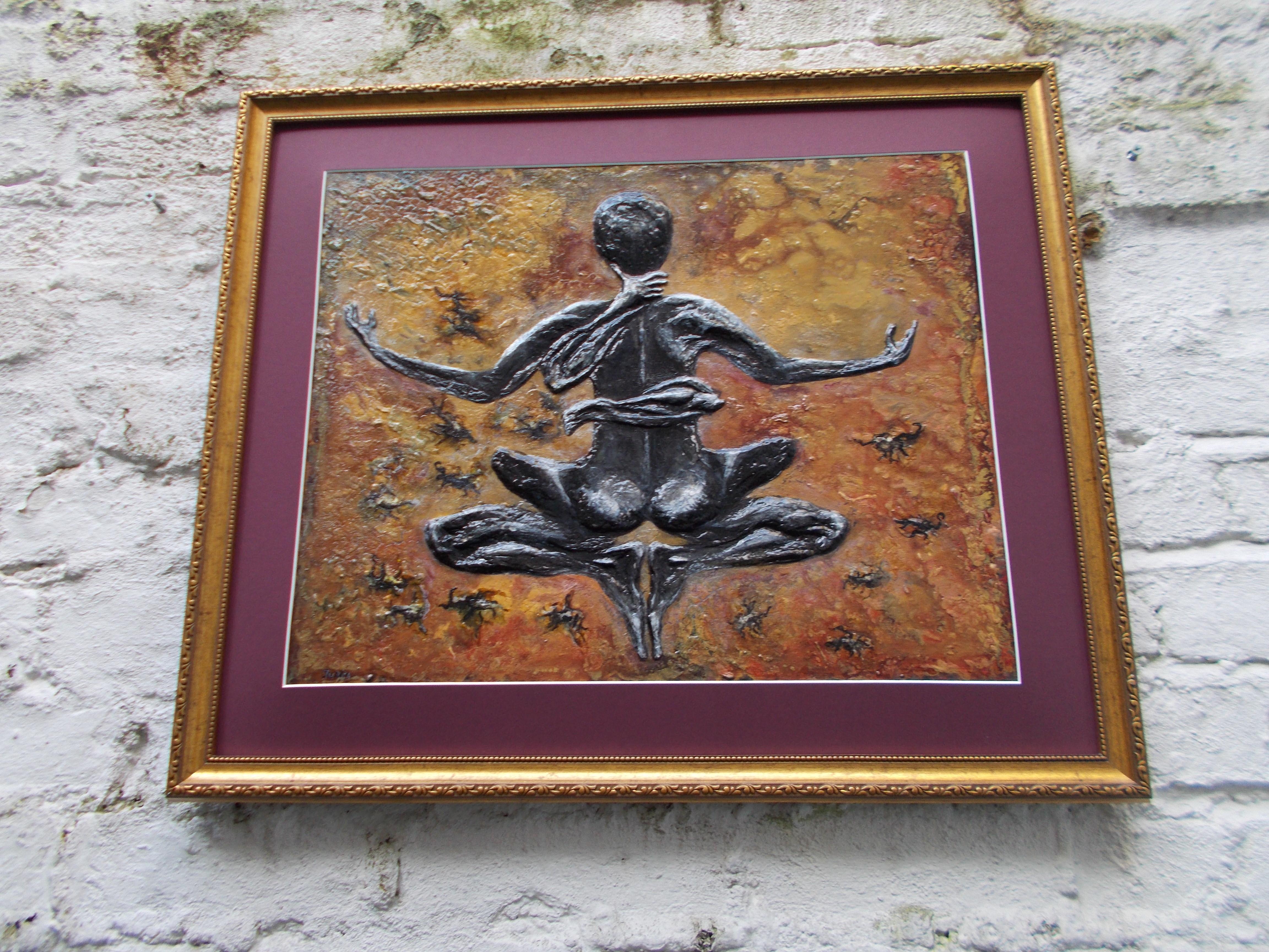 Scorpio-The-Scorpion-Oct 23-Nov 21-Jurita-2019-Painting Relief 3D-mixed-media-acrylic-clay-40x50cm© (12)