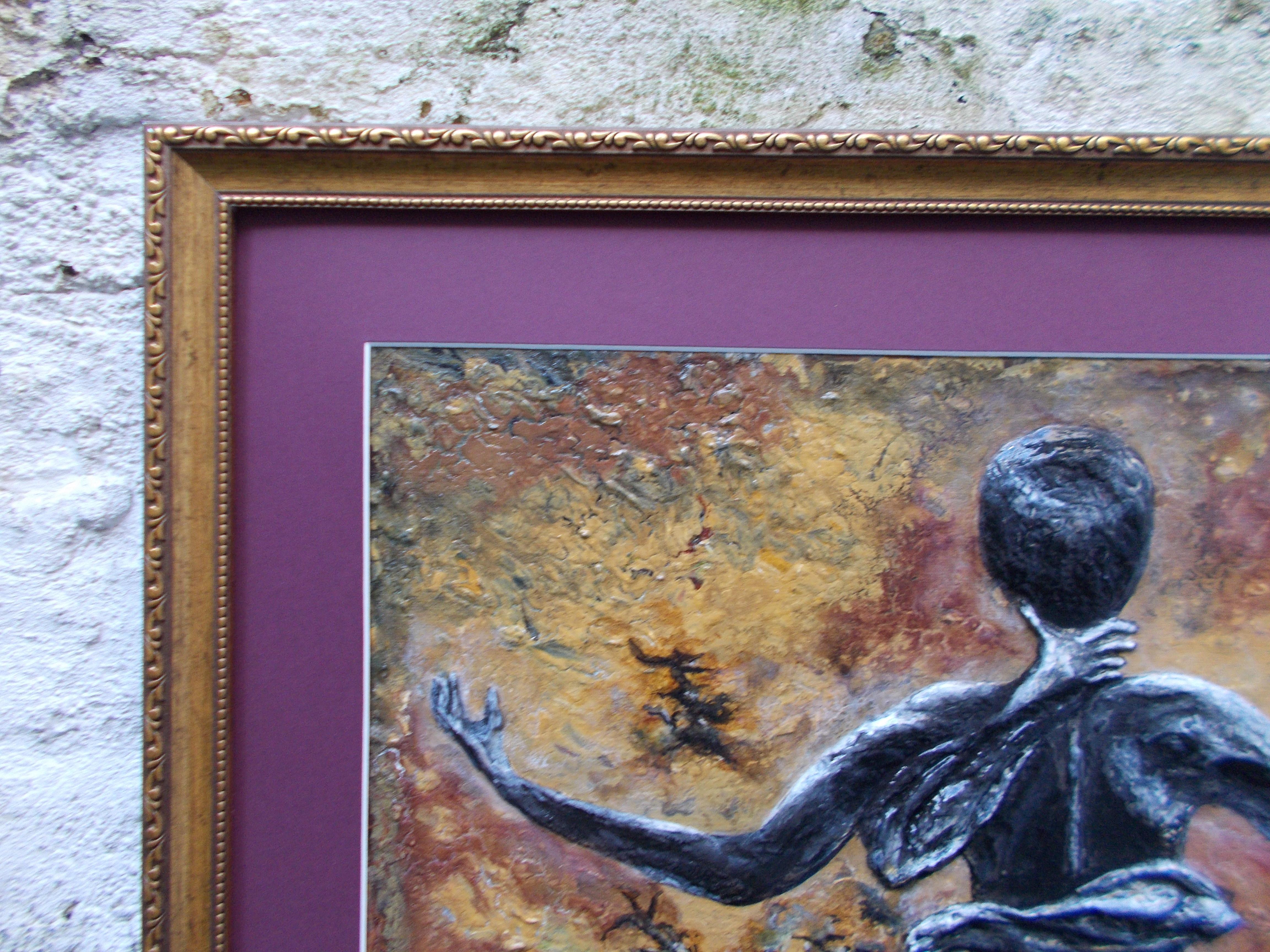 Scorpio-The-Scorpion-Oct 23-Nov 21-Jurita-2019-Painting Relief 3D-mixed-media-acrylic-clay-40x50cm© (14)