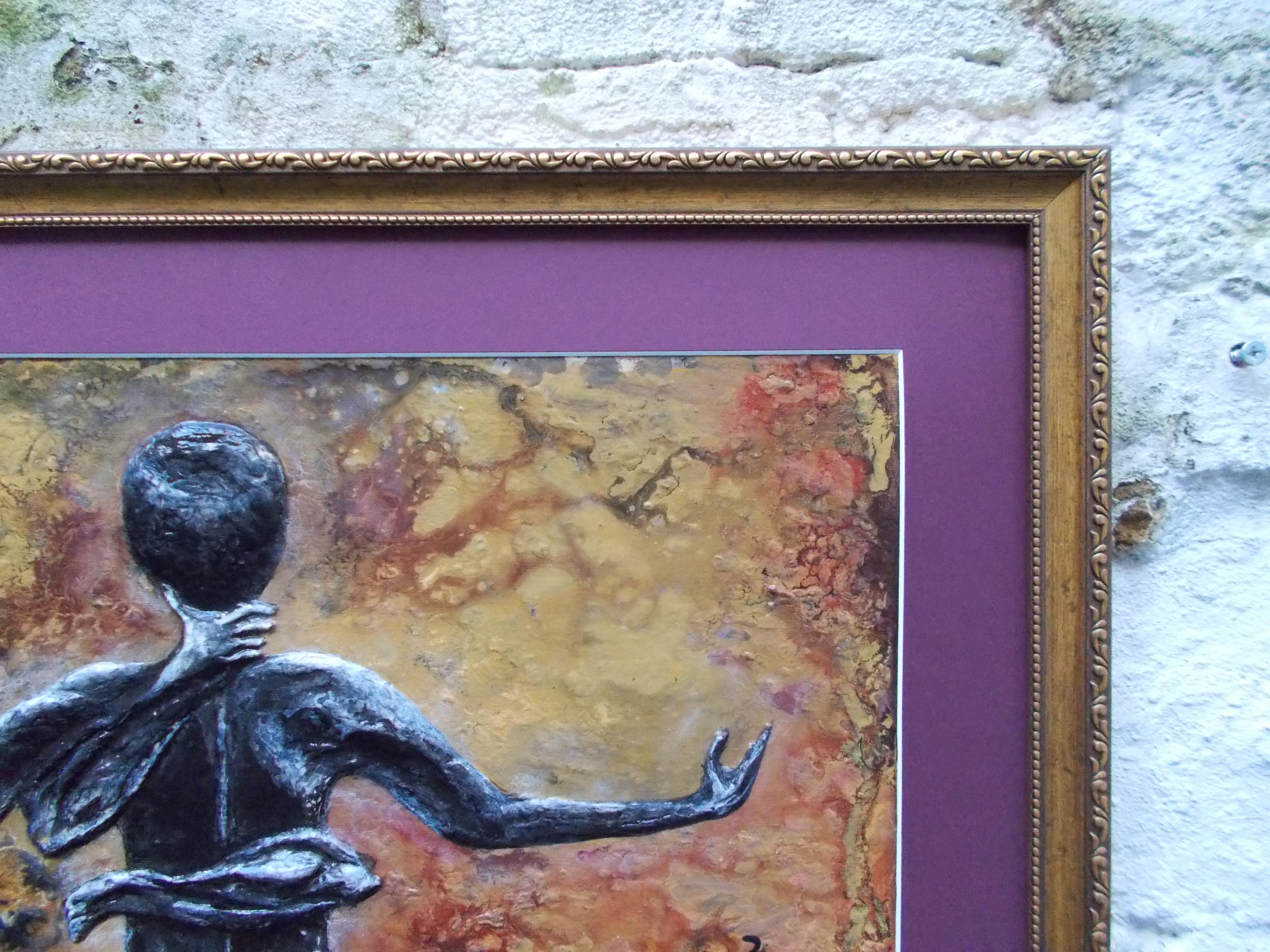 Scorpio-The-Scorpion-Oct 23-Nov 21-Jurita-2019-Painting Relief 3D-mixed-media-acrylic-clay-40x50cm© (15)