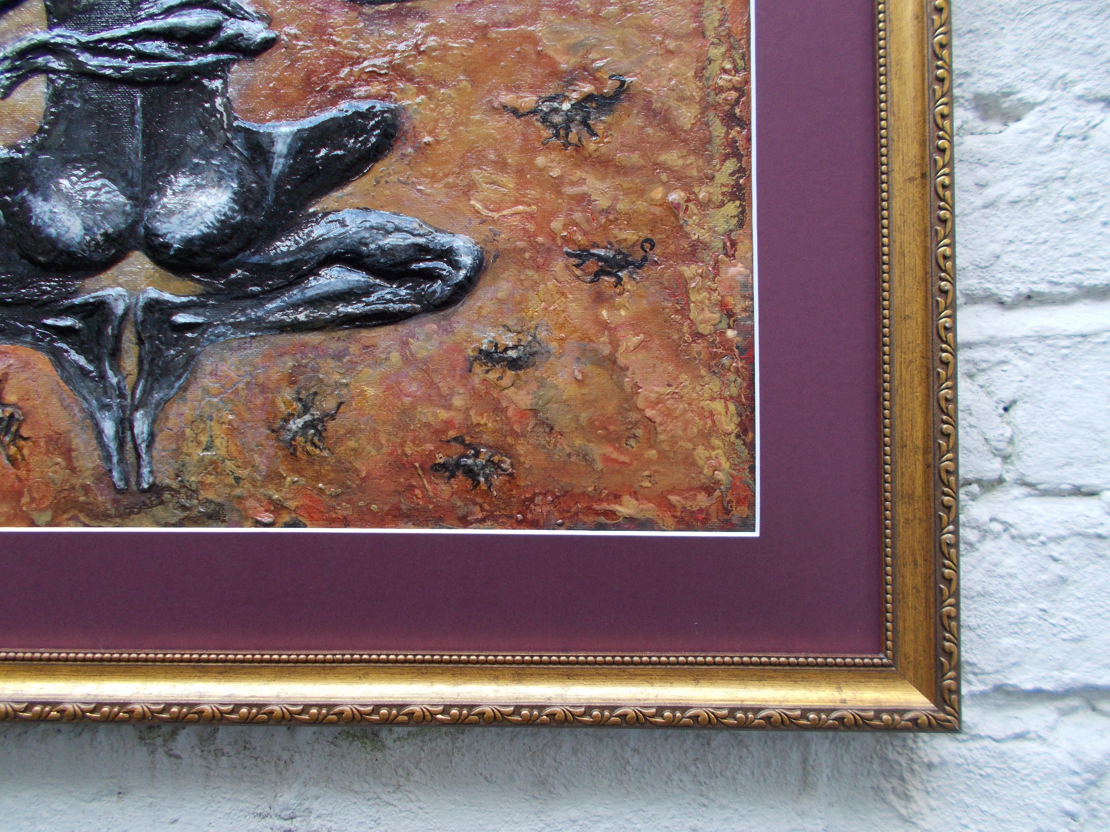 Scorpio-The-Scorpion-Oct 23-Nov 21-Jurita-2019-Painting Relief 3D-mixed-media-acrylic-clay-40x50cm© (16)