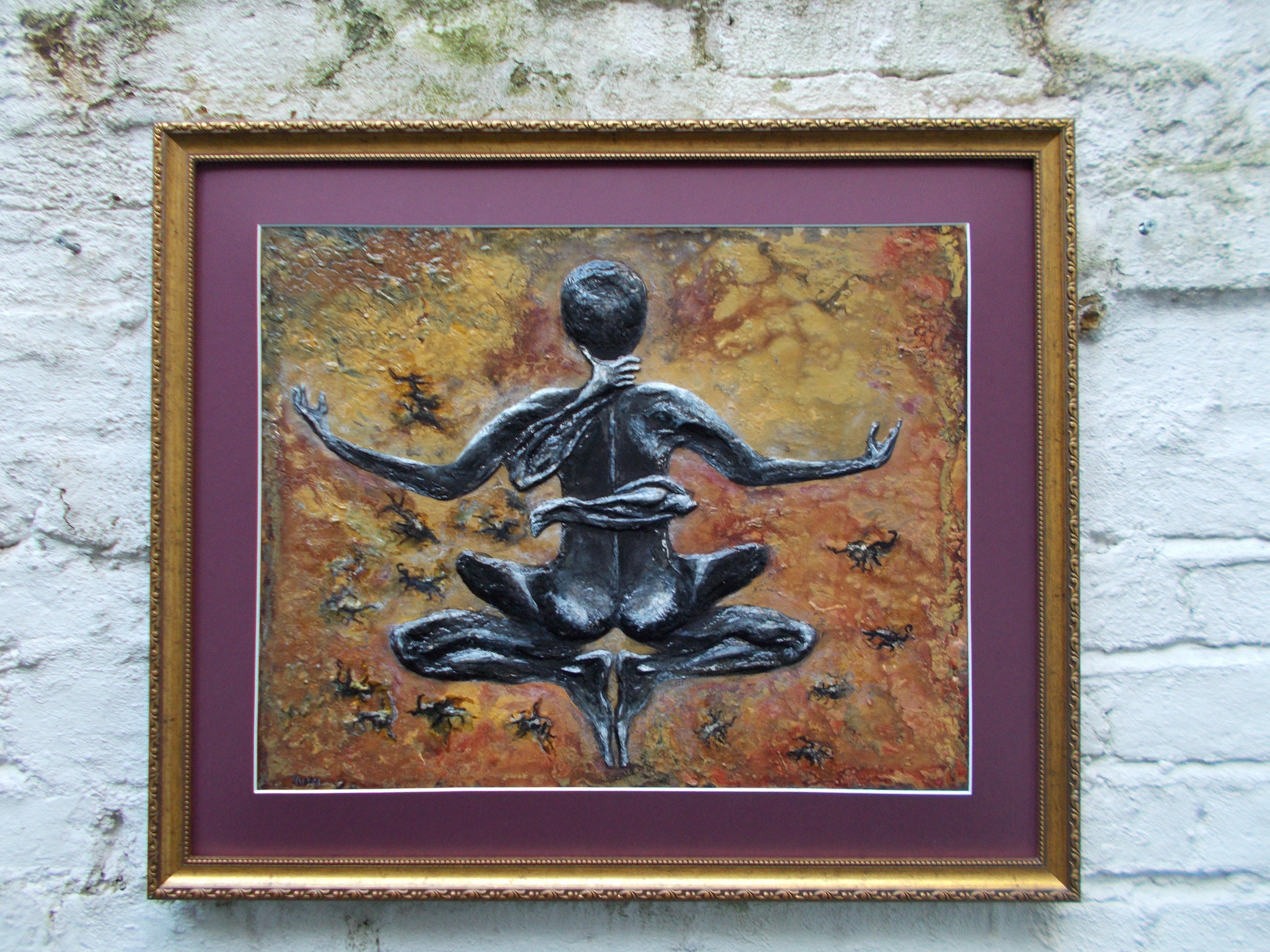 Scorpio-The-Scorpion-Oct 23-Nov 21-Jurita-2019-Painting Relief 3D-mixed-media-acrylic-clay-40x50cm© (9)