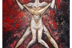 Taurus-The-Bull-Apr 20-May 20-Jurita-2019-Painting Relief 3D-mixed-media-acrylic-clay-gilded-40x50cm (11)