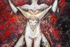 Taurus-The-Bull-Apr 20-May 20-Jurita-2019-Painting Relief 3D-mixed-media-acrylic-clay-gilded-40x50cm (15)