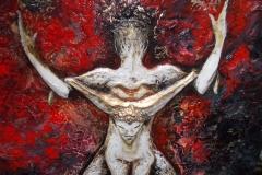 Taurus-The-Bull-Apr 20-May 20-Jurita-2019-Painting Relief 3D-mixed-media-acrylic-clay-gilded-40x50cm (16)