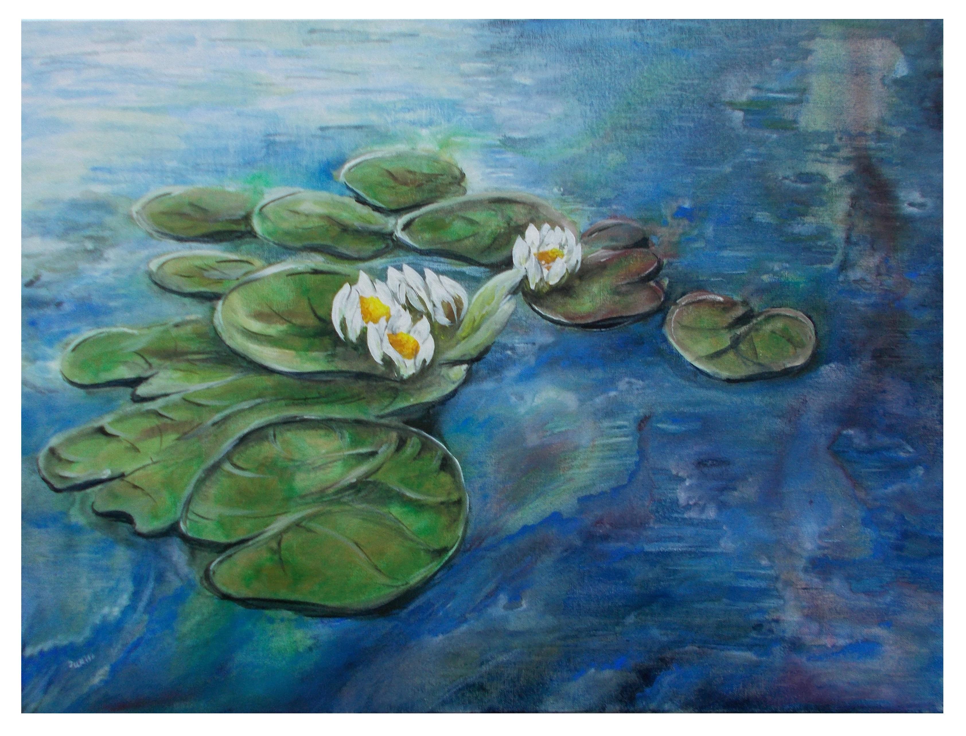 Harshavardhan Rane lilies - acrylic on canvas -2019 (1)