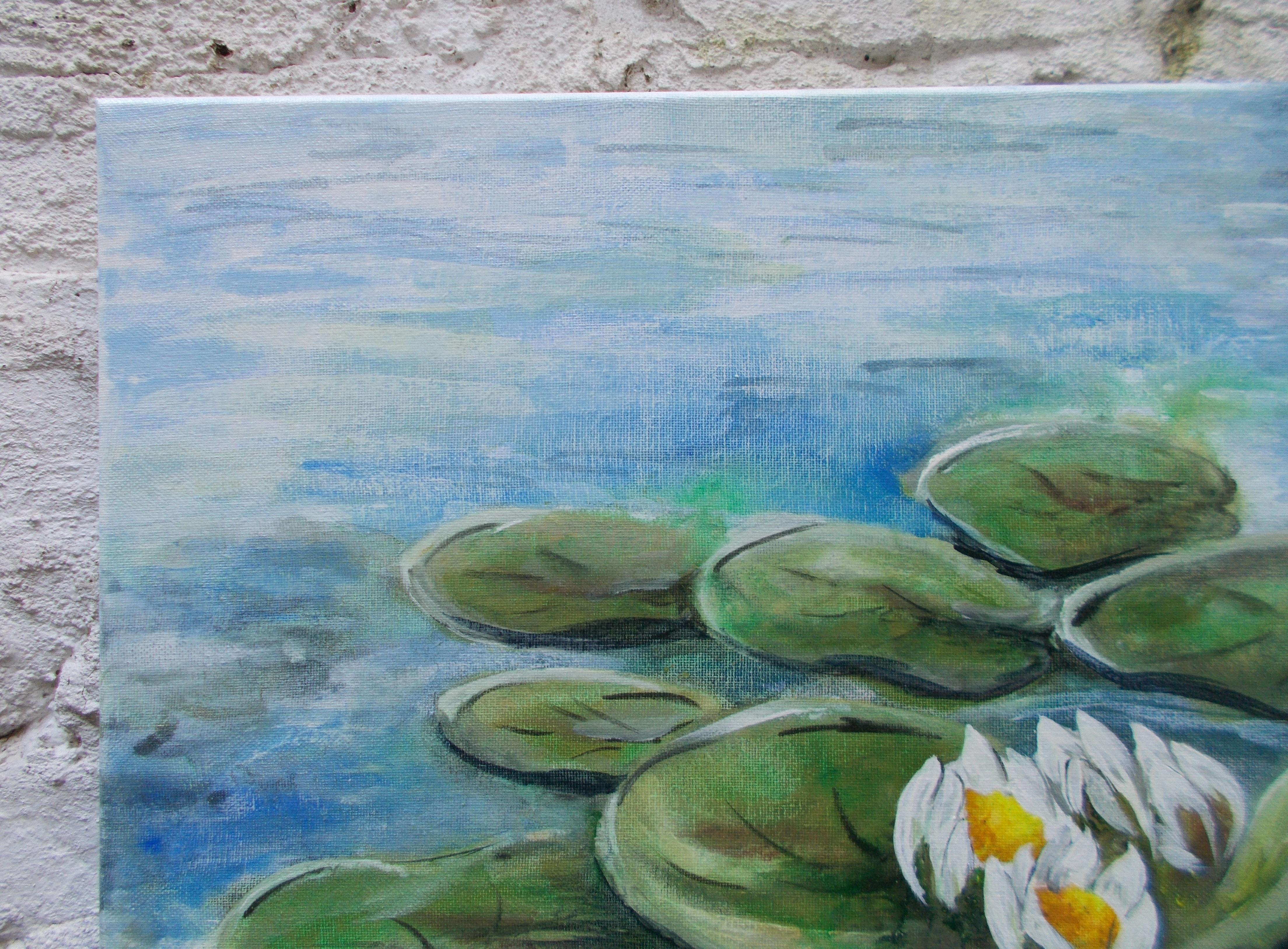 Harshavardhan Rane lilies - acrylic on canvas -2019 (10)