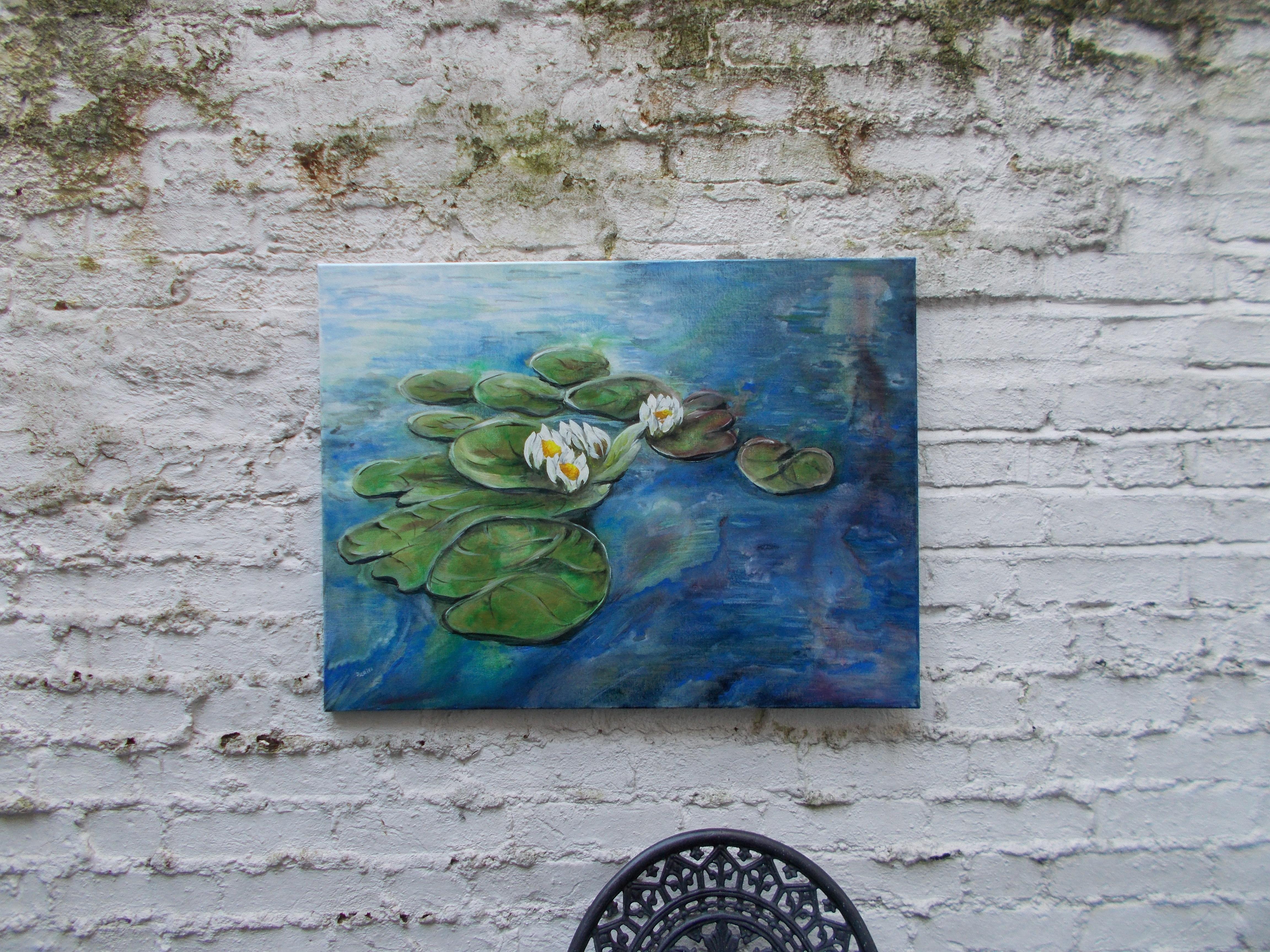Harshavardhan Rane lilies - acrylic on canvas -2019 (13)