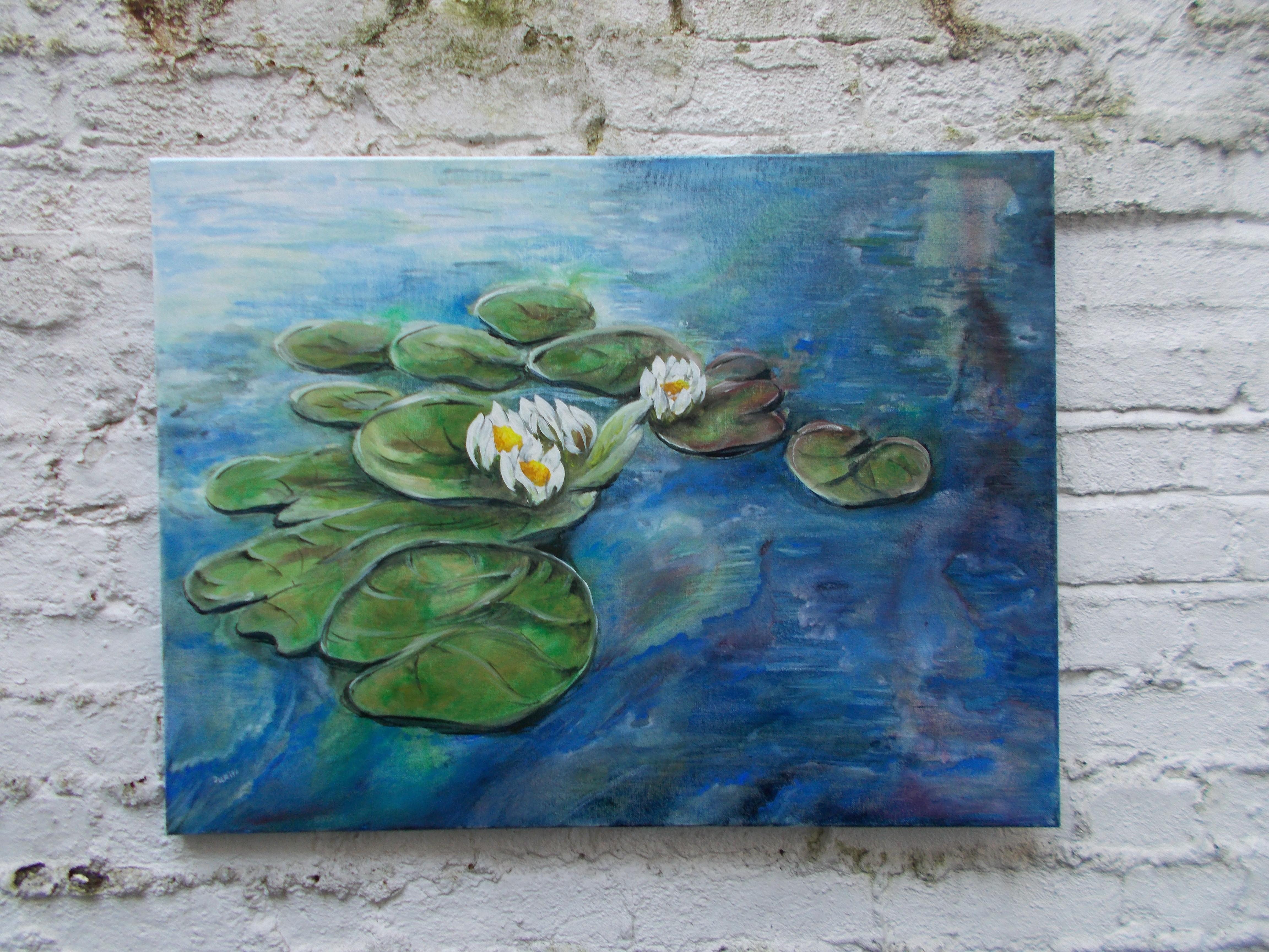Harshavardhan Rane lilies - acrylic on canvas -2019 (8)