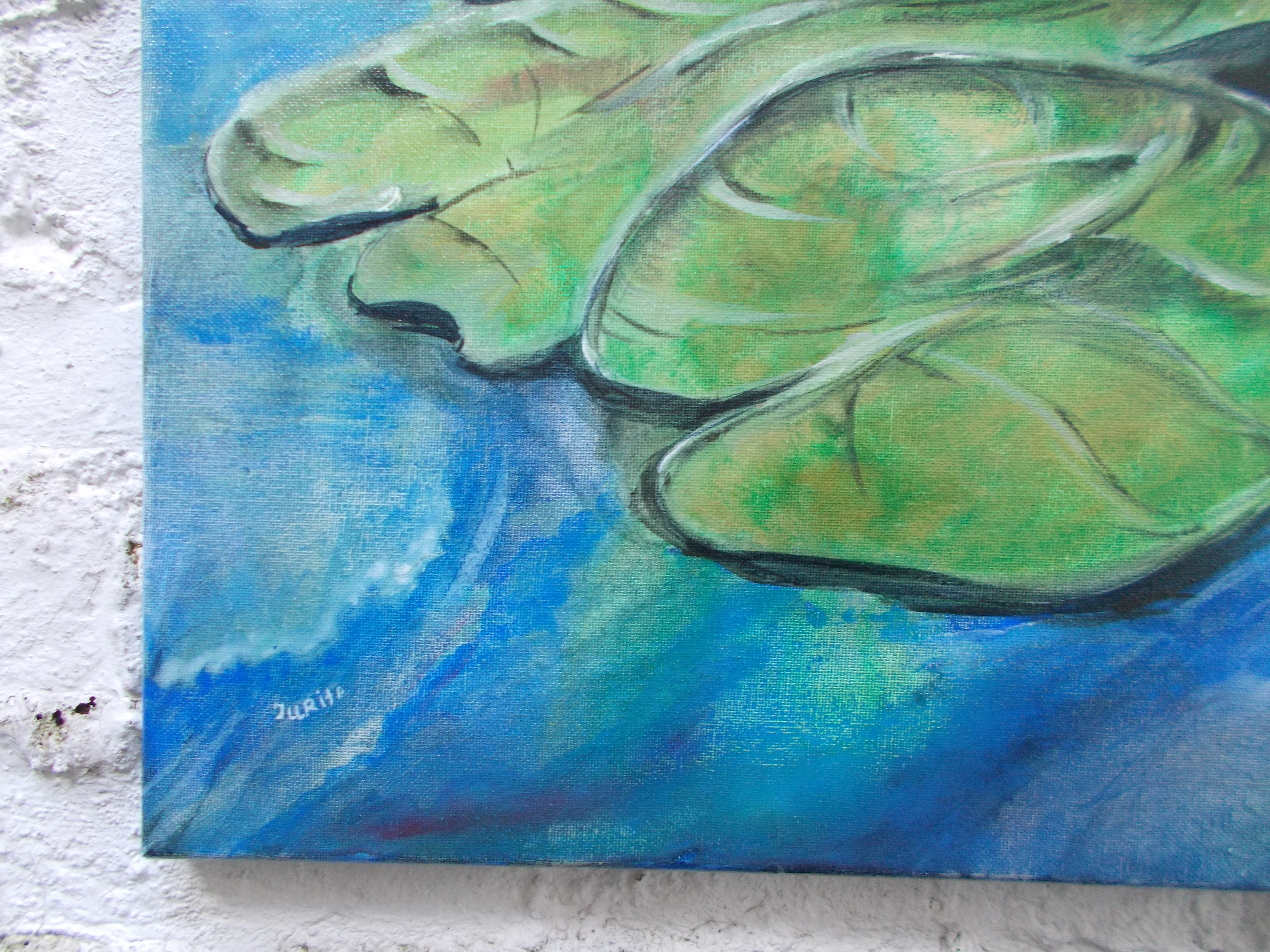 Harshavardhan Rane lilies - acrylic on canvas -2019 (9)