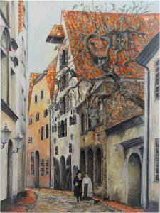 Alksnāja st Riga, Jurita, 2019, oil on canvas 60 x 80cm ©