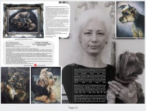 """Ms Jurita Art exhibition 'ART AND BASKETBALL"""" at 17 November 2019 in Rossotrudnichestvo in London"""