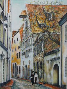 Alksnāja iela Riga Latvia Jurita, 2019, oil on canvas, 80x60cm ©