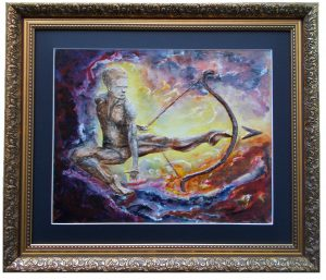 Sagittarius: The Archer (Nov 22-Dec 21) - 3D painting by Jurita