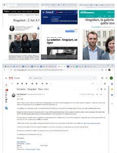 Europe-1 & Singulart & Forbes about Jurita Art