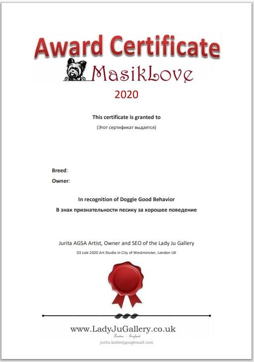 MasikLove animals Award